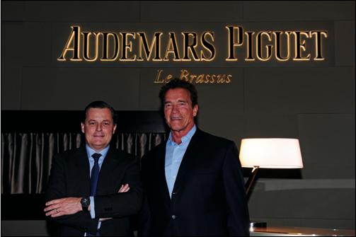 Audemars Piguet  Ambassador Arnold Schwarzenegger Visits SIHH