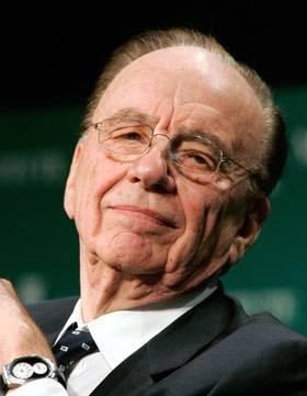 Celebrity Corner: News Corp's Rupert Murdoch wearing a Philip Stein Teslar