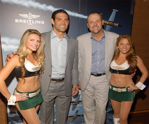 Breitling Celebrate Kickoff of Football Season With NY Jet Mark Sanchez