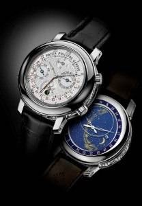 """The """"front"""" and """"rear"""" of the Sky Moon Tourbillon."""