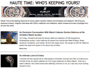 Sign Up NOW: Exclusive Access to Haute Time