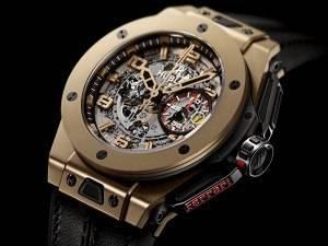 Carmelo Anthony's Haute Time Watch of the Day:  Hublot Big Bang Ferrari Magic Gold