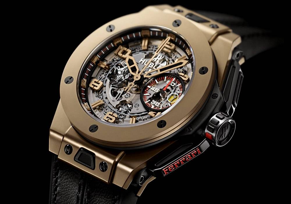 Carmelo Anthony's Haute Time Watch of the Day:  Hublot Big Bang Ferrari Magic Gold