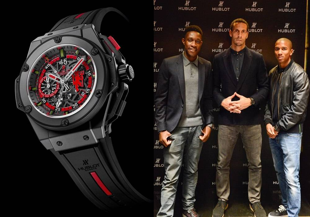 Manchester United Soccer Stars Work the Hublot Boutique For A Cause