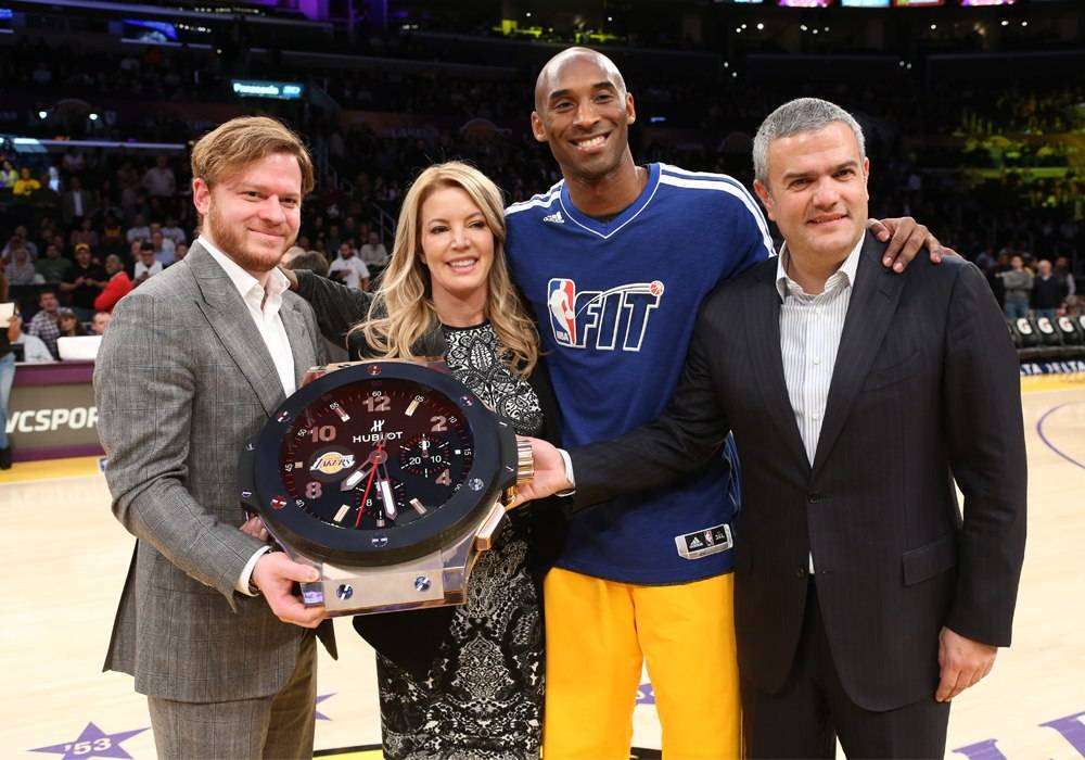 Kobe Bryant Helps Hublot Celebrate Position as First Official Timekeeper of the LA Lakers