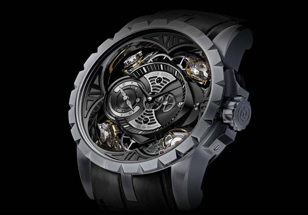 Carmelo Anthony's Haute Time Watch of the Day:  Roger Dubuis Excalibur Quatuor in Silicon