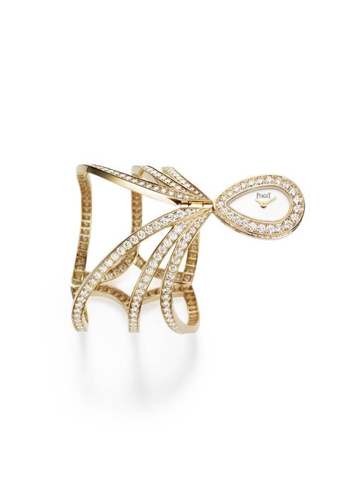 High jewelry cuff watch