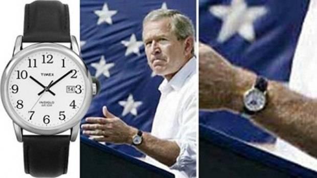 President George W. Bush wearing a Timex Indiglo