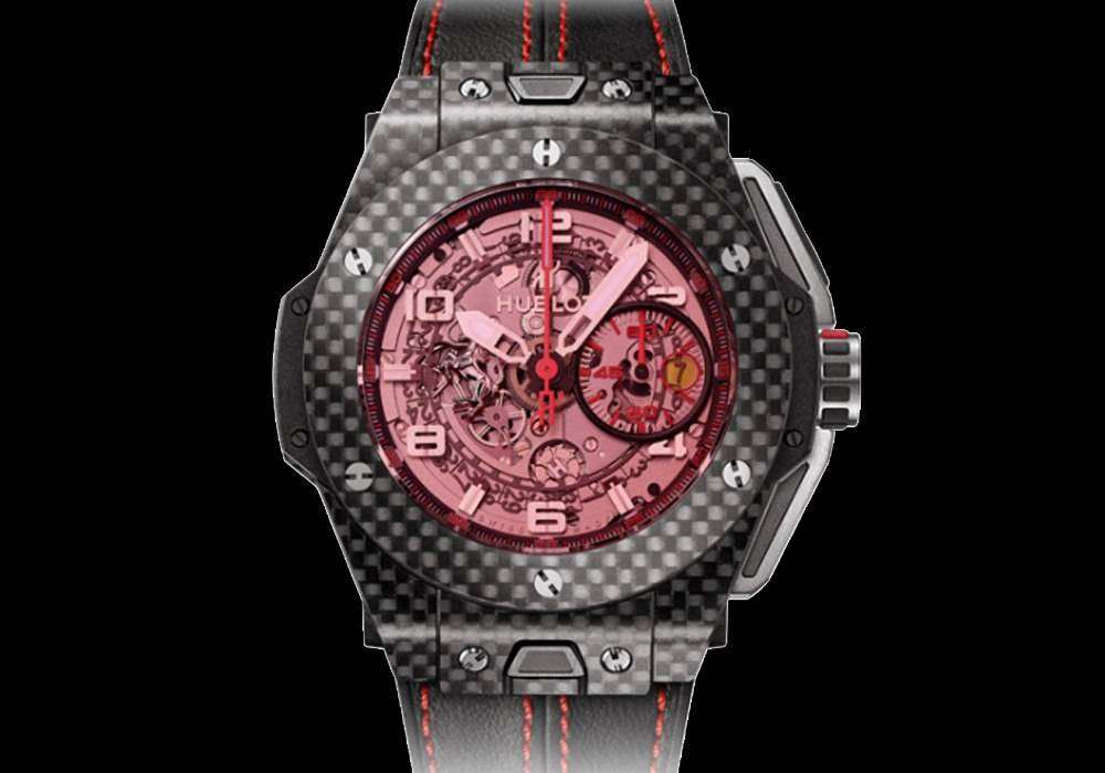Carmelo Anthony's Haute Time Watch of the Day:  Hublot Big Bang Ferrari Carbon Red Magic