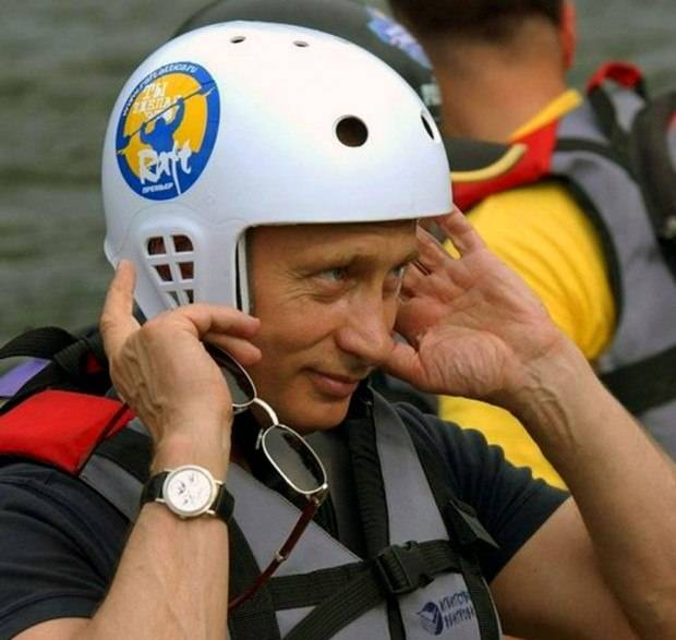 President Putin wearing a Patek Philippe