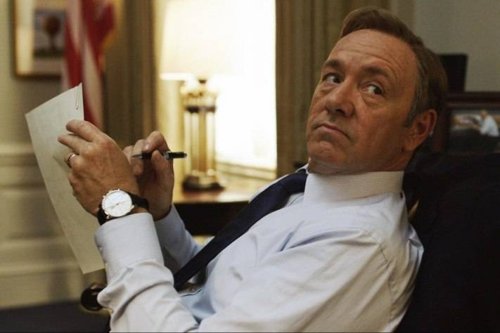 Kevin Spacey Wears IWC Portugese Chronograph in House of Cards
