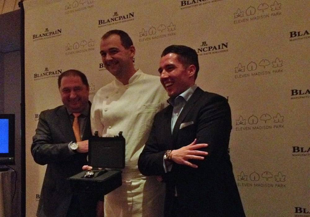 Blancpain Honors 3 Michelin Star Chef Daniel Humm of New York's Eleven Madison Park