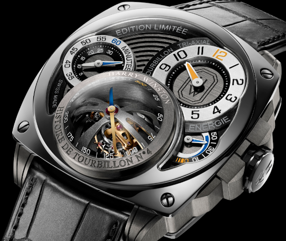 Triple Threat: The Harry Winston Histoire de Tourbillon 4, 3 Axis Tourbillon
