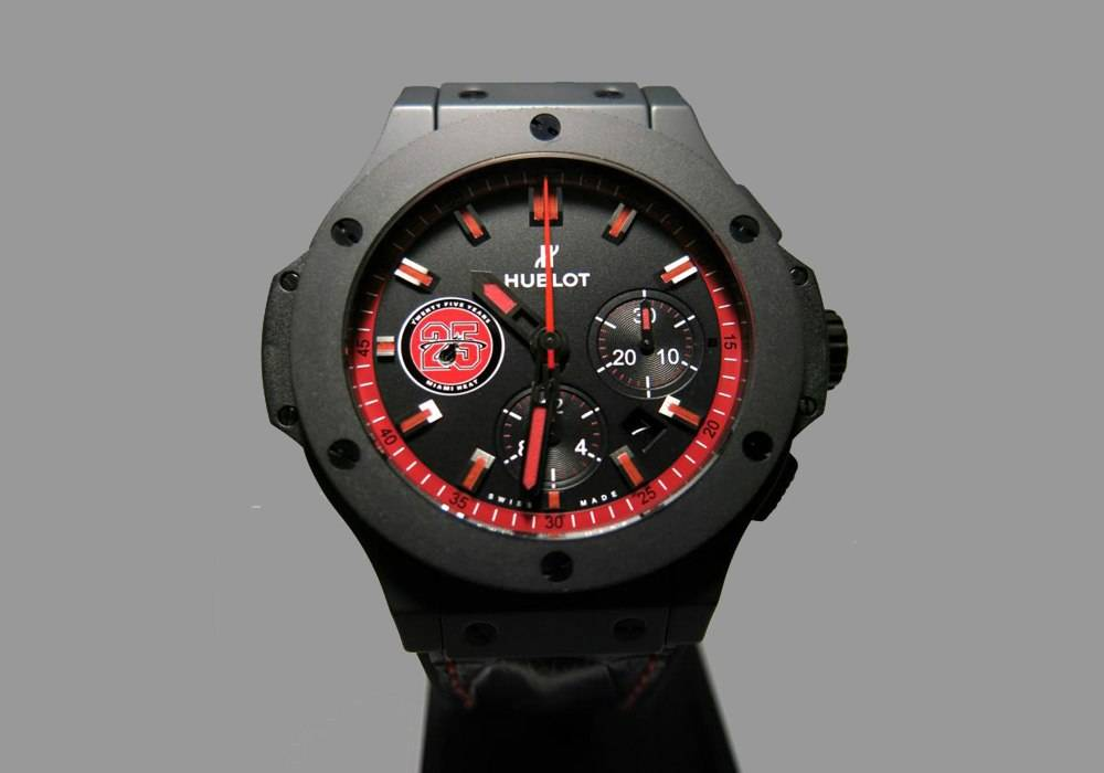 Carmelo Anthony's Haute Time Watch of the Day:  Hublot King Power Miami HEAT Chronograph