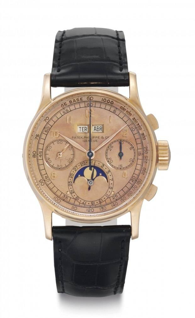 This Patek Philippe Perpetual Calendar Chronograph sold for $674,500 at Christie's.