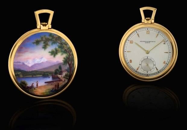 This Vacheron Constantin piece sold for $118,000 at an Antiquorum auction.