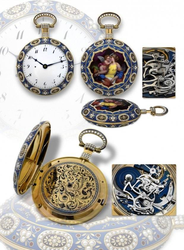 Enameled pocket watches made for the Chinese market in the 1800s do well at auction. This one sold at Antiquorum for $768,000.