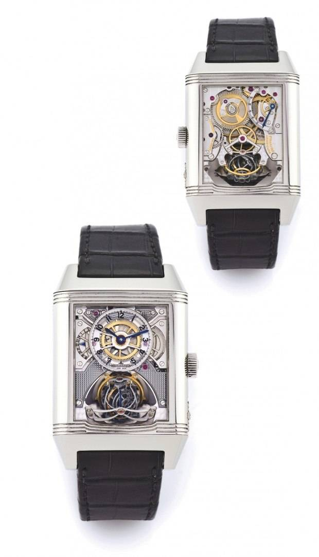 The Jaeger-LeCoultre Gyrotourbillon 2 sold for $260,000 at Antiquorum.