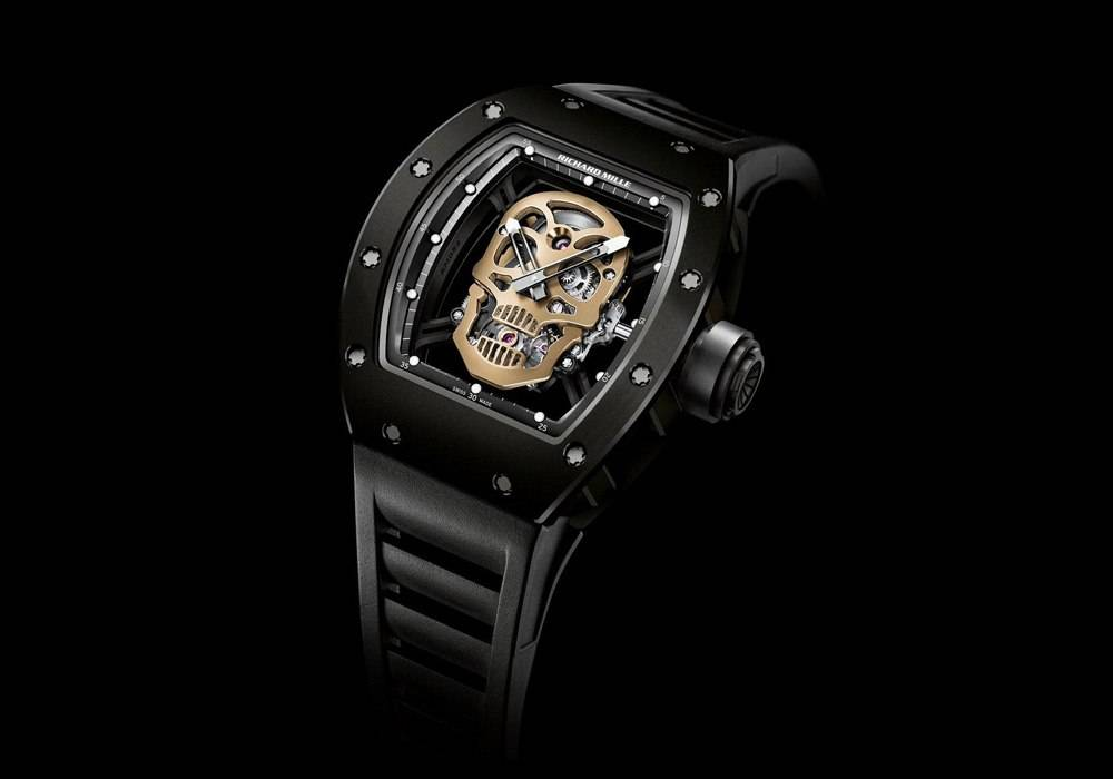 Carmelo Anthony's Haute Time Watch of the Day:  Richard Mille RM 52-01 Tourbillon Skull Nano-Ceramic