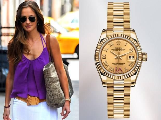 Minka kelly spotted wearing rolex lady datejust best luxury watch brands patek philippe for Celebrity wearing rolex