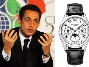 Nicolas Sarkozy Spotted Wearing Patek Philippe Perpetual Calendar White Gold 3940G
