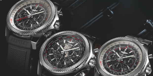 The trio of new Breitling for Bentley pieces with new in-house chronograph movements.