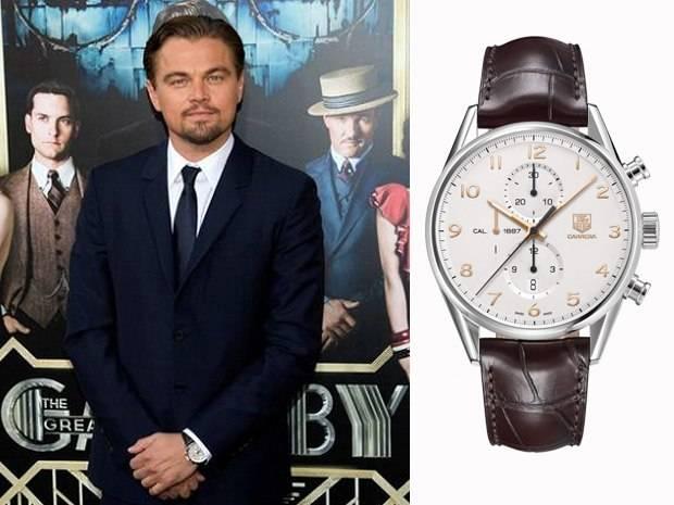 Leonardo DiCaprio Spotted Wearing TAG Heuer Carrera