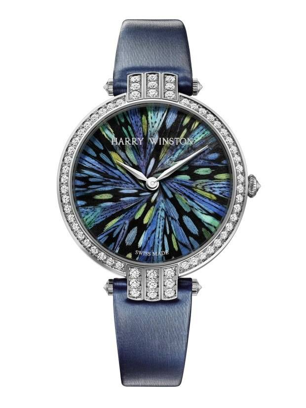 From the Harry Winston Premier Feathers collection with dials by plumassière Nelly Saunier.