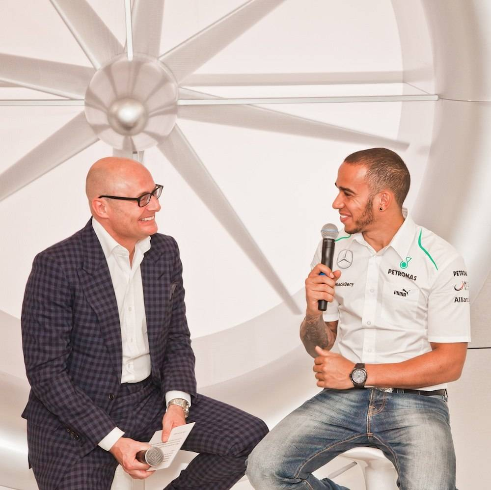 Lewis Hamilton Makes Surprise Appearance at IWC Exhibition