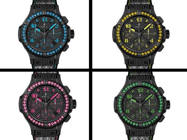 On Trend: Hublot Unveils Neon and Black Diamond Big Bang Fluo
