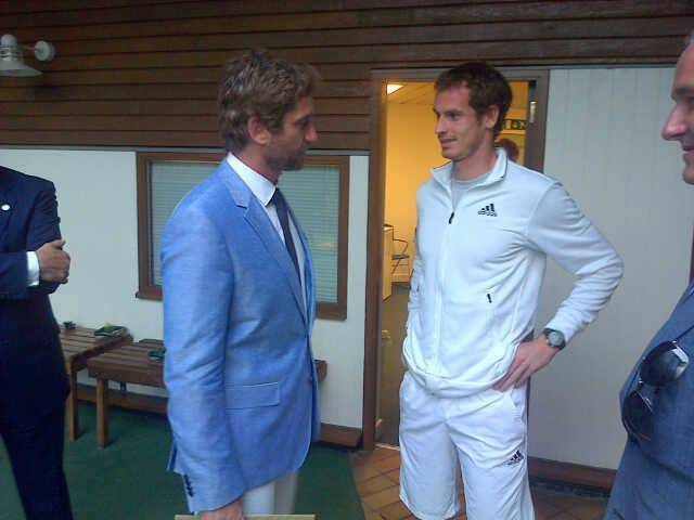 Gerard Butler and Andy Murray