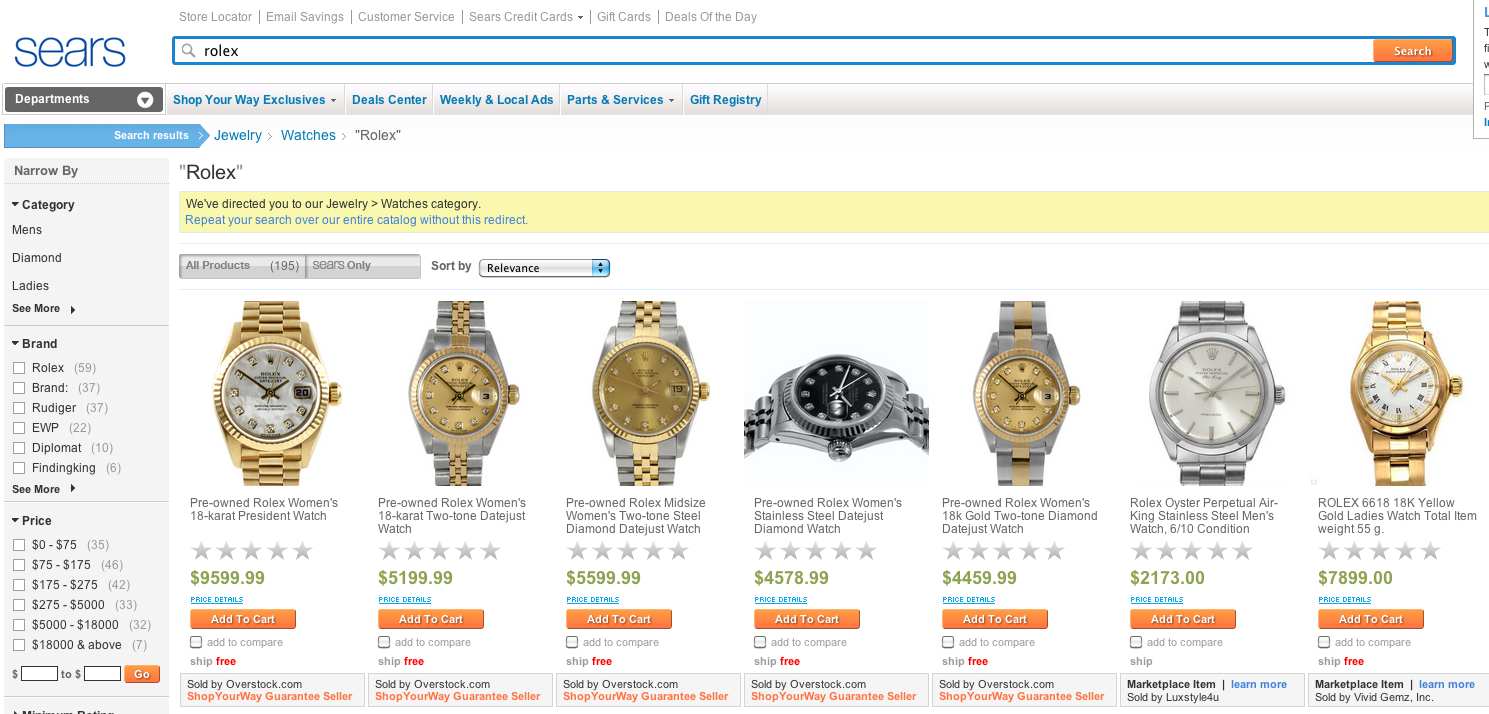 $30,000 Rolex For Sale at…Sears?