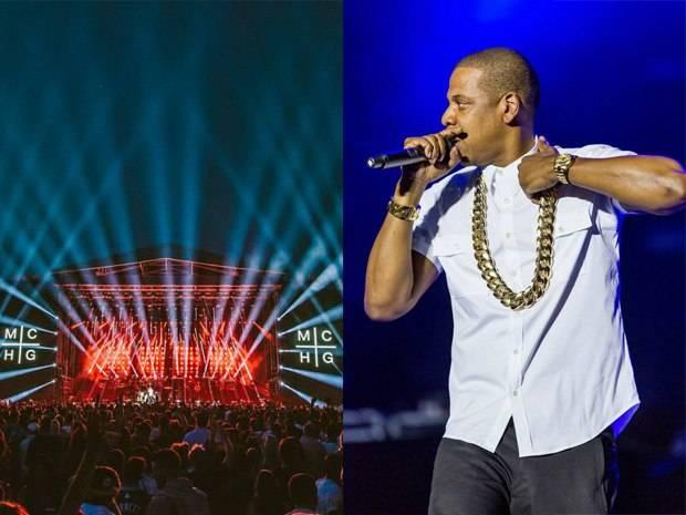 Jay-Z Rocks Rolex Sky-Dweller Onstage at Wireless Festival
