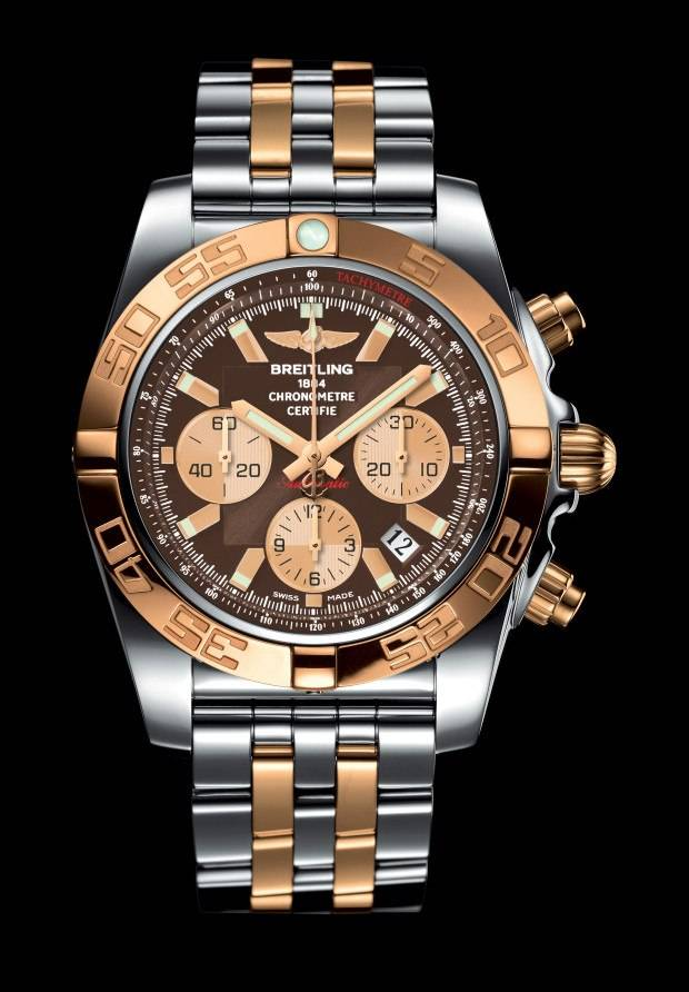 Breitling Chronomat 44 in rose gold and steel.
