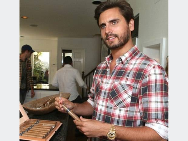 Scott Disick Spotted Wearing Yellow Gold Rolex Sky-Dweller