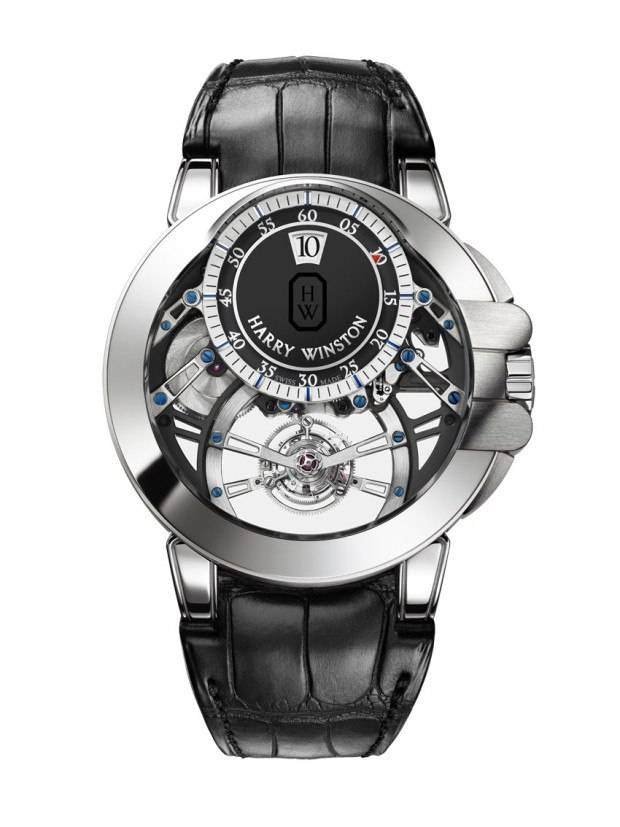 Harry Winston Ocean Tourbillon Jump Hour.