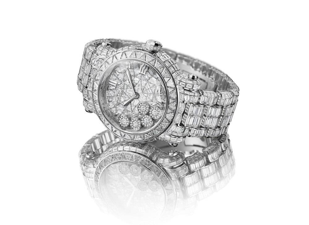 2. Chopard 274496-1001 Happy Sport Diamantissimo white