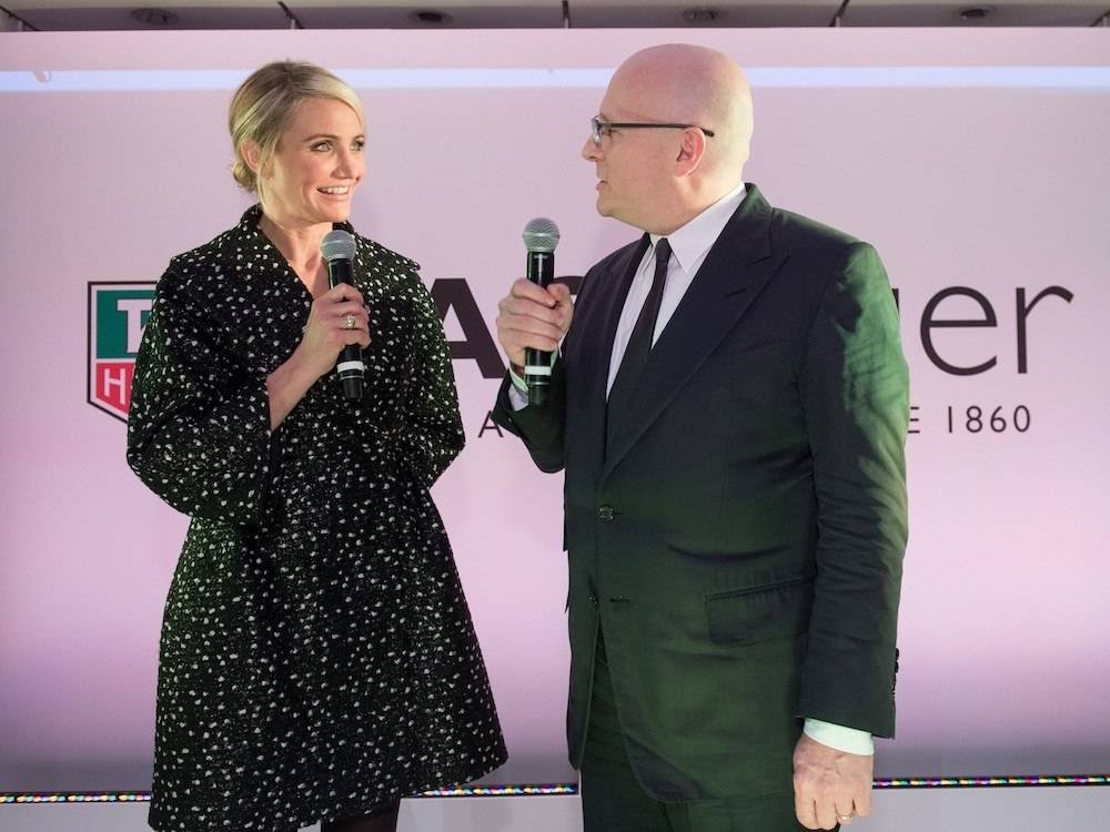 TAG Heuer Opens Fifth Avenue Flagship Store With Cameron Diaz