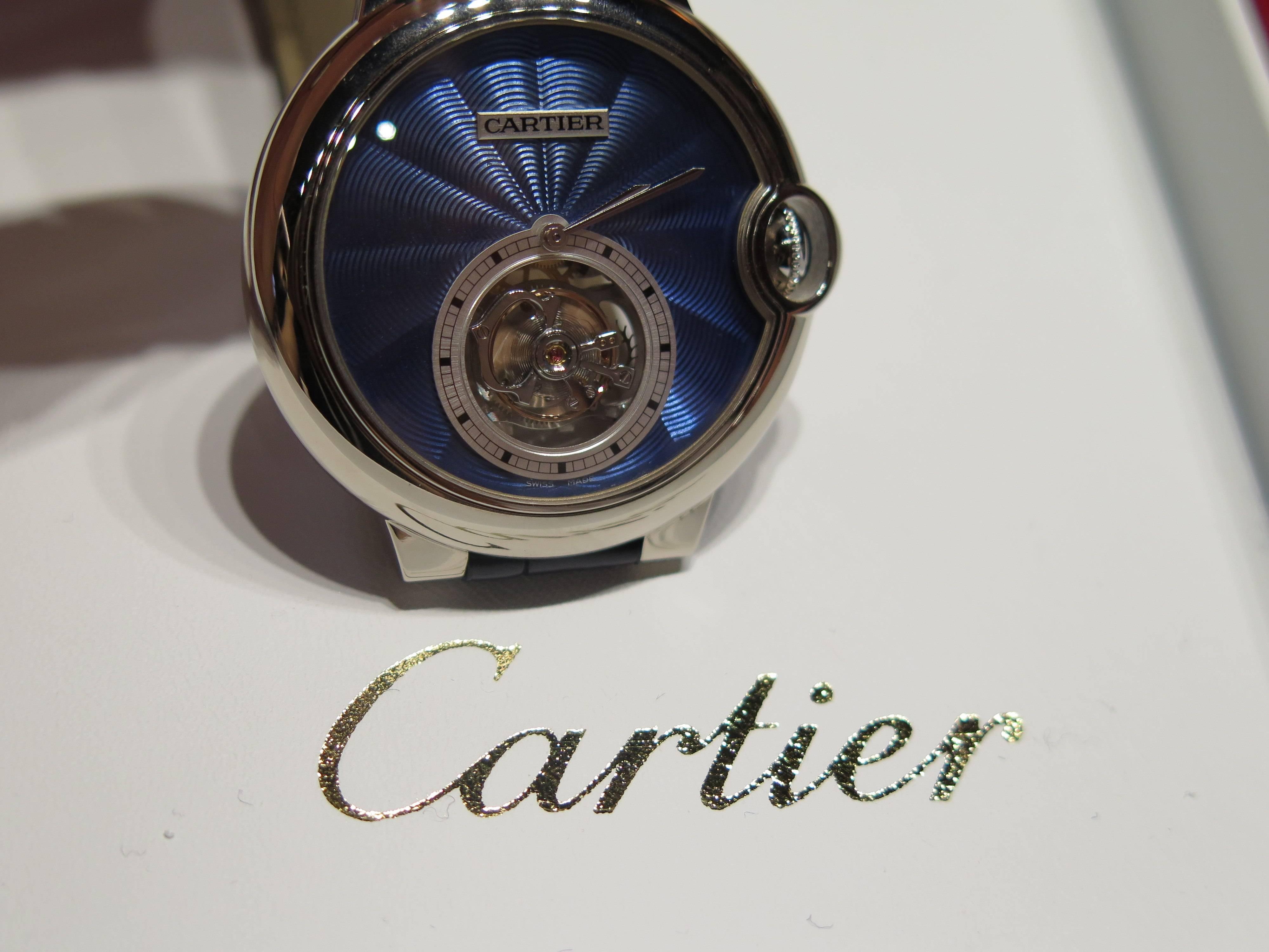 Cartier Ballon Bleu Enamel.