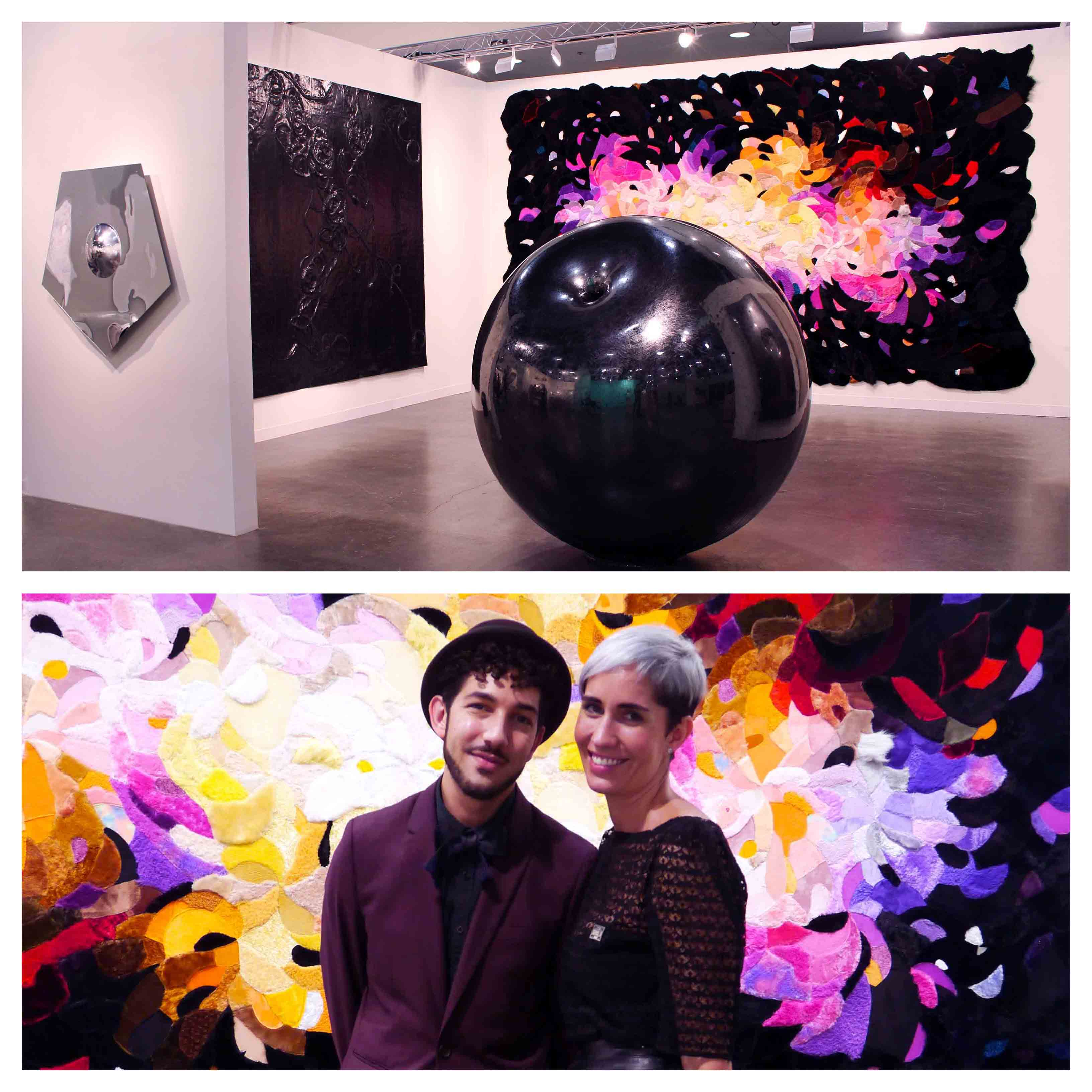 Spinello Projects' Booth, with Anthony Spinello and Marcella Novela