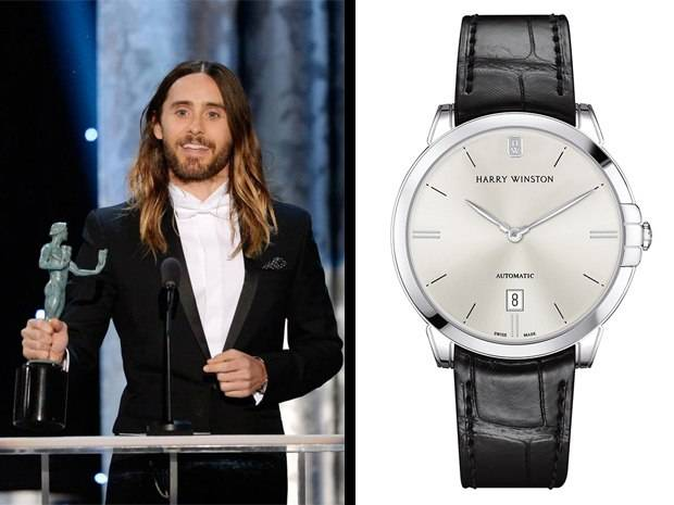 Jared Leto Spotted Wearing Harry Winston Midnight Automatic