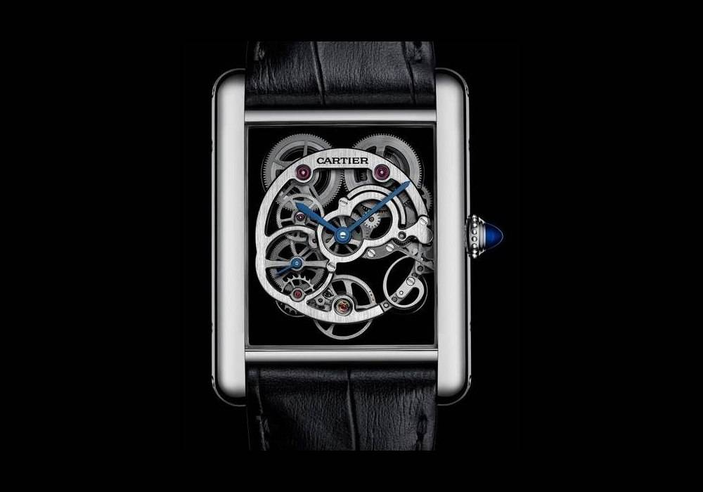 Carmelo Anthony's Haute Time Watch of the Day:  Cartier Tank Louis Cartier Sapphire Skeleton