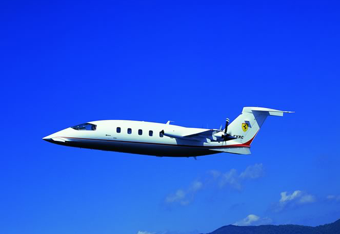 Haute Jet of the Week: Piaggio Aero with Ferrari