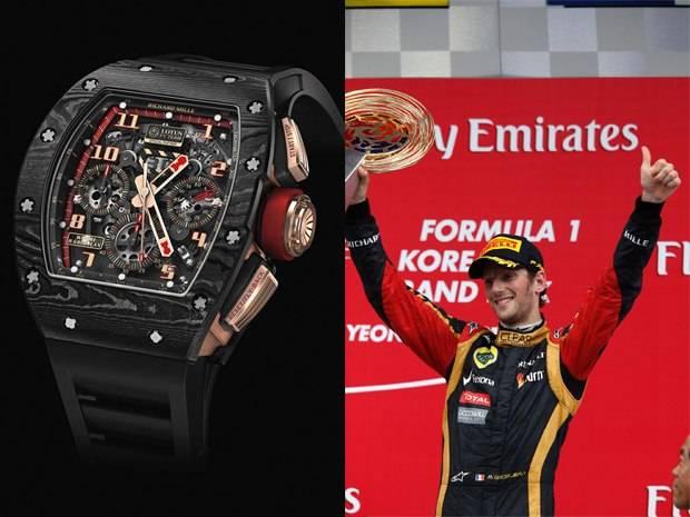 Richard Mille Teams Up With F1 Lotus Driver Romain Grosjean
