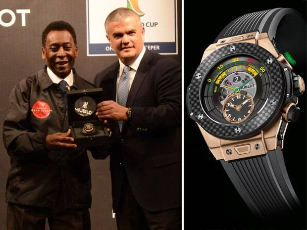 Pelé Helps Hublot Unveil the Official Watch of the 2014 World Cup