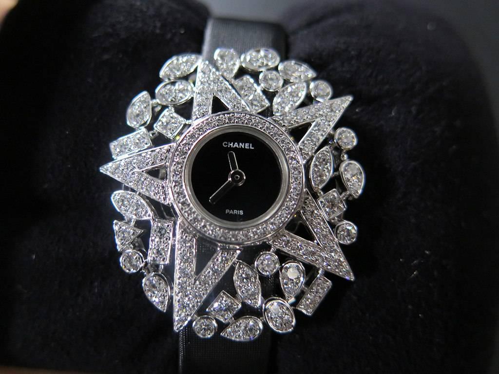 The Chanel Etoile Filante high jewelry watch.