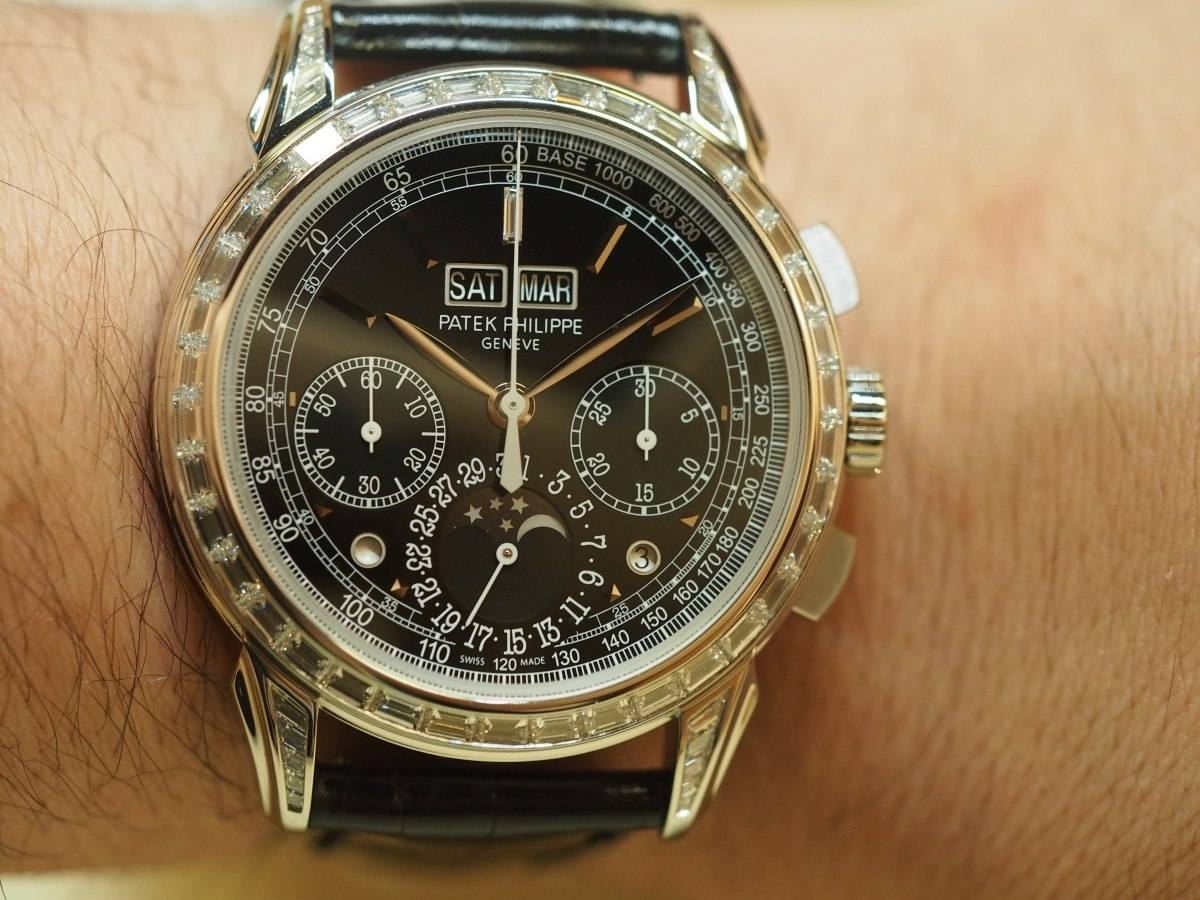 Patek Philippe 5271 with baguette diamonds.