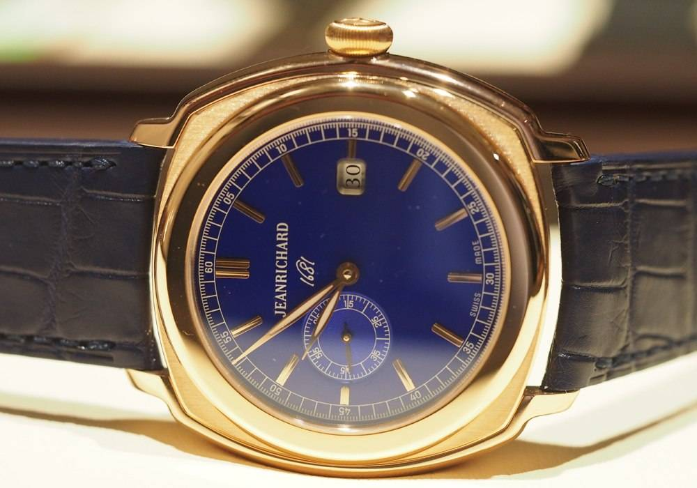 Carmelo Anthony's Haute Time Watch of the Day:  Jean Richard 1681 Central Second Gold