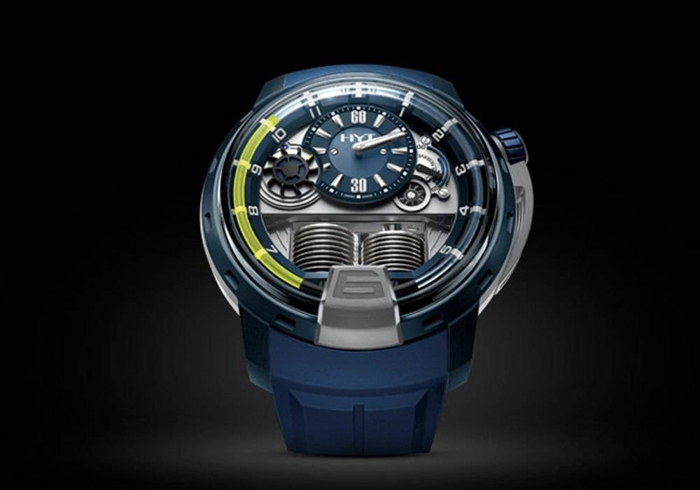 Carmelo Anthony's Haute Time Watch of the Day:  HYT H1 Alumen Blue
