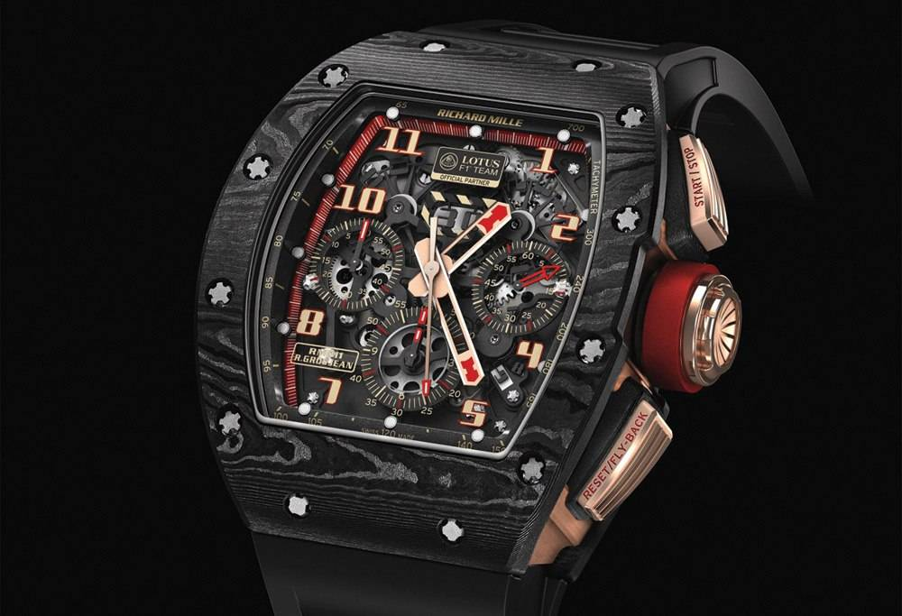 Richard Mille  RM 011 Lotus F1 Team Romain Grosjean  Automatic Flyback Chronograph